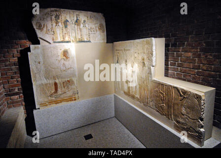 Ancient Egyptian tomb. Altes Museum, Berlin - Stock Image