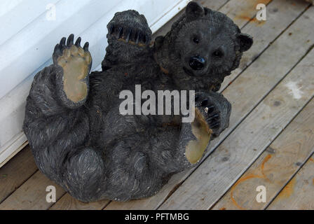 A bear statue , New Brunswick Canada - Stock Image