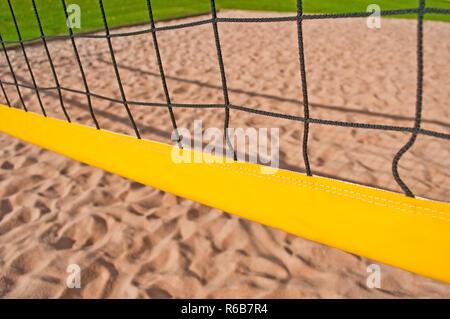 Beach-Volleyball - Stock Image