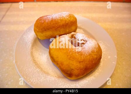 Pyshki, local doughnut, Saint Petersburg, Russia - Stock Image