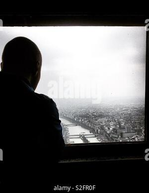 Looking out on Paris - Stock Image