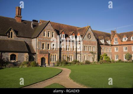 The main original school building at Bradfield College, Berkshire, - Stock Image