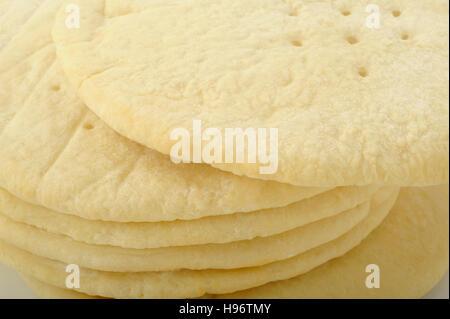 frozen ready-made pizza dough - Stock Image