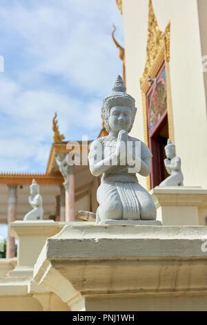 Royal Palace statuettes - Stock Image