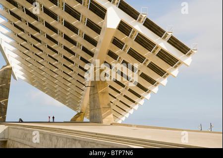 Giant Solar Panel at the Forum, Barcelona, Catalonia, Spain - Stock Image