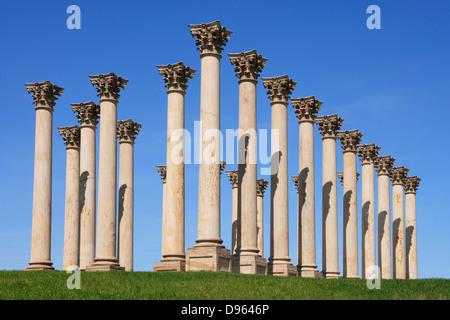 The Capitol Columns in the National Arboretum, Washington, DC. - Stock Image