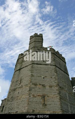 Caernarvon Castle, Gwynedd, North Wales, UK - Stock Image