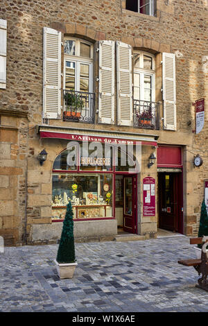 The watch and clock museum at Fougères, Brittany, France - Stock Image