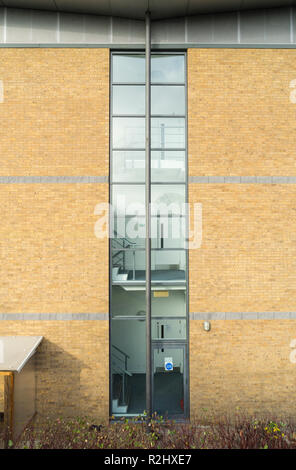 Glazed stairwell The Vitrum building St John's Innovation Park Cambridge England 2018 - Stock Image