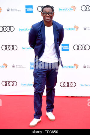 David Harewood arriving for a concert hosted by Sentebale in Hampton Court Palace in East Molesey, to raise awareness and vital funds for the Duke of Sussex's charity, Sentebale, which helps young people in southern Africa affected by HIV. - Stock Image