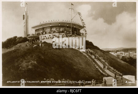The Atlantic Restaurant - Empire Exhibition, Bellahouston Park, Glasgow, Scotland, 1938. - Stock Image