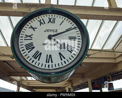 Large Clock Carnforth Station UK - Stock Image
