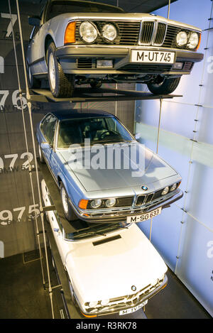 Germany, Bavaria, Munich. BMW Museum, BMW 6 series cars (Editorial Use Only) - Stock Image