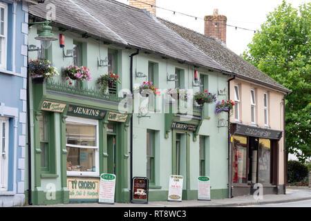 Newcastle Emlyn Carmarthenshire, Wales - Stock Image