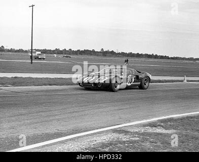 1968 David Piper GB Ford GT40 Sebring 12 Hours 16th - Stock Image
