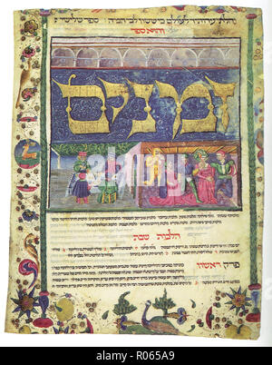 6342. Rabbi Moshe Ben Maymon, Rambam, Mishneh Torah, Italy mid 15th. C. - Stock Image