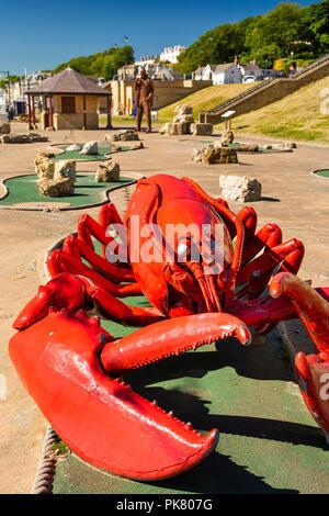 UK, England, Yorkshire, Filey, promenade crazy golf course, lobster hazard hole - Stock Image