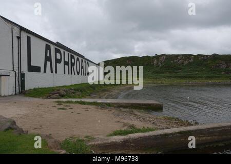 Laphroaig Distillery, Islay - Stock Image