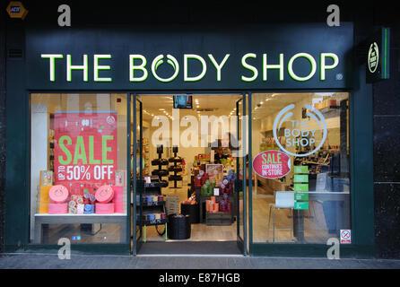 The Body Shop, Haymarket, Leicester, England, UK - Stock Image