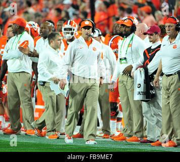Glendale, AZ, USA. 11th Jan, 2016. Clemson Head Coach Dabo Swinney during the 2016 College Football Playoff National - Stock Image