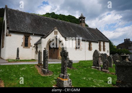 Fortingall & Glenlyon Church, in the Perthshire village of Fortingall famous for its ancient yew tree - Stock Image