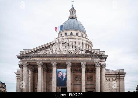 Simone Veil at the Pantheon - Stock Image