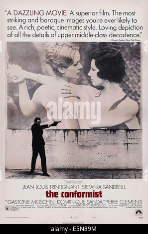 THE CONFORMIST, (aka IL CONFORMISTA), US poster art, Stefania Sandrelli, 1970 - Stock Image