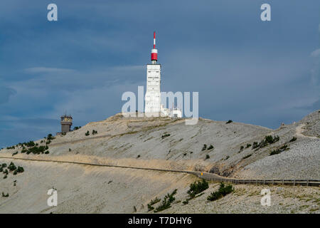 View on top of Mont Ventoux, higher mountain in Provence, South of France, tourist and vacation destination - Stock Image