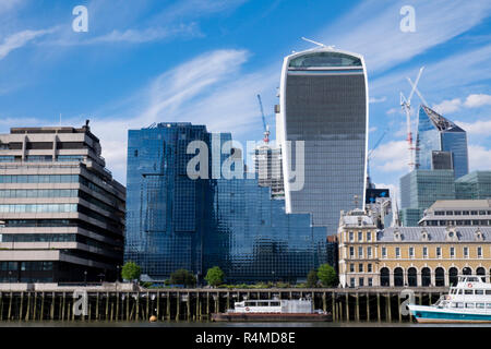 20 Fenchurch Street also known as the walkie talkie building, London, UK - Stock Image