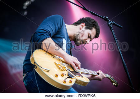TULSA (French band) performing live, 13 july 2014 - Stock Image