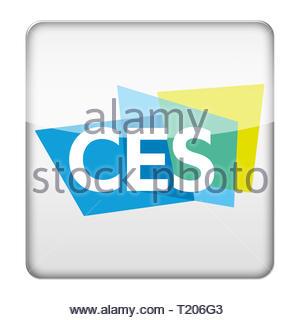 CES Consumer Electronics Show logo icon - Stock Image