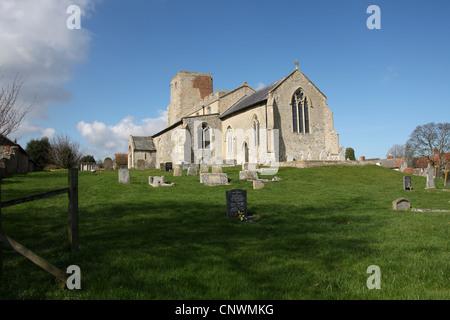 Morston Church, Morston, North Norfolk. - Stock Image