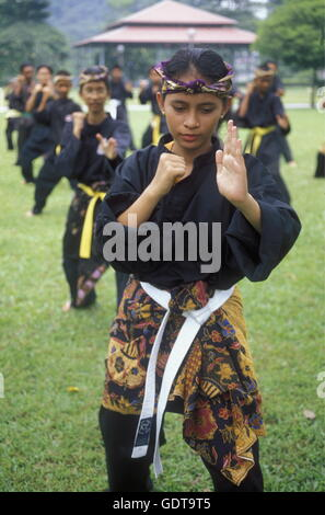 Girls take Sport training in the city of  Kuala Lumpur in Malaysia in southeastasia. - Stock Image