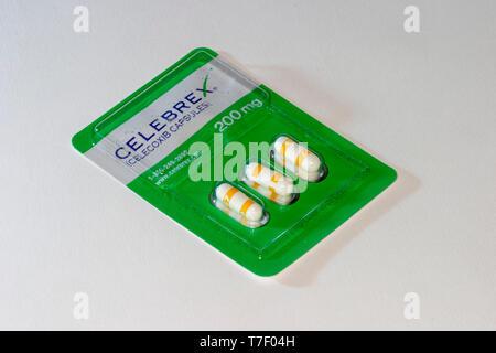 Celebrex capsules, blister pack. 200mg. - Stock Image