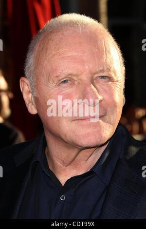 May 02, 2011 - Los Angeles, California, USA - Actor SIR ANTHONY HOPKINS at the 'Thor' Los Angeles Premiere - Stock Image