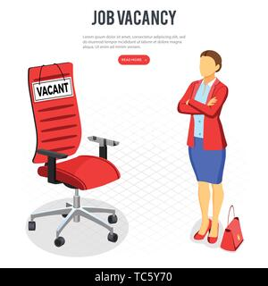 Isometric Employment and Hiring Concept - Stock Image
