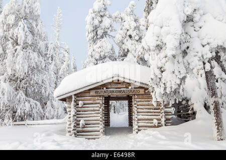 Winter in Riisitunturi National Park, Lapland, Finland - Stock Image