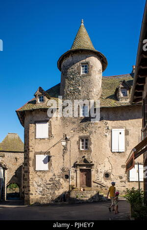 France, Center France, Salers, one of the most beautiful villages of France - Stock Image