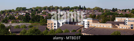 Panoramic View of Hilly Fields, taken from Lewisham Multistory Car Park. Lewisham, London - Stock Image
