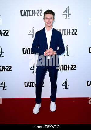 Harrison Osterfield attending the Catch-22 UK Premiere, held at VUE Cinema Westfield, London. - Stock Image