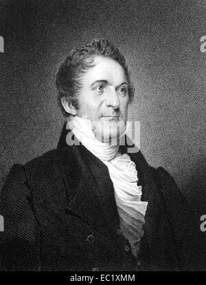 William Wirt (1772-1834) on engraving from 1834.  American author and statesman. - Stock Image