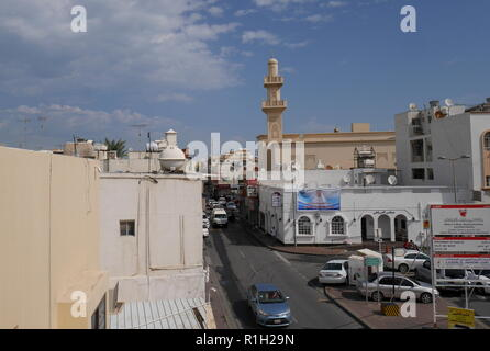 Muharraq souk viewed from the Al Alawi House on the Pearl Trail, Muharraq, Kingdom of Bahrain - Stock Image