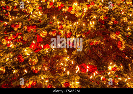 Close up of a Christmas Tree, background - Stock Image