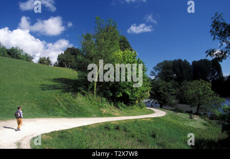 Arundel Park & Lake, Arundel, West Sussex, England - Stock Image
