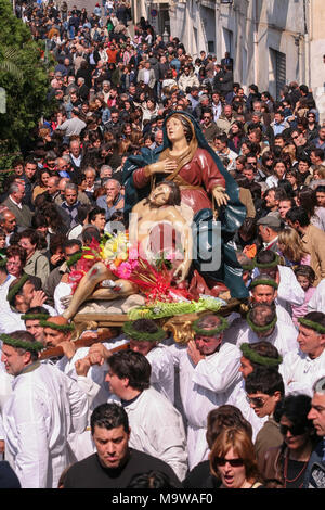 Nocera Terinese (Italy) - The Processione dell'Addolorata in the Easter Holy Saturday - Stock Image