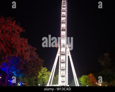 Brisbane Wheel At Night - Stock Image