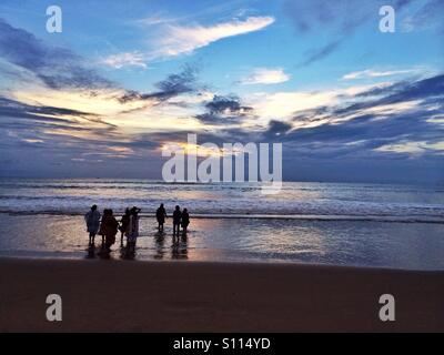 People on the beach - Stock Image