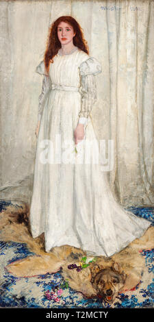 James McNeill Whistler, Symphony in White, No. 1: The White Girl, painting, 1862 - Stock Image