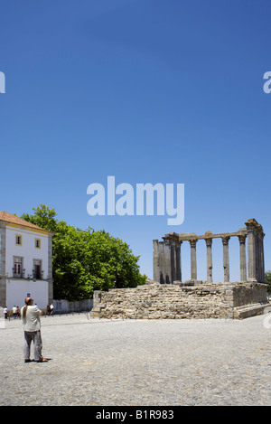 Temple of Diana, Evora, Alentejo, Portugal, Europe - Stock Image
