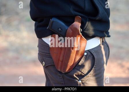 Personal protection at Etosha national park - Stock Image